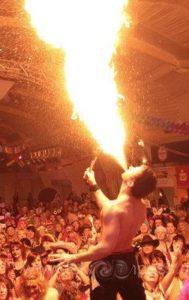 Feuer schlucken und Pyroshows vom Feuerkünstler in Biberach an der Riß